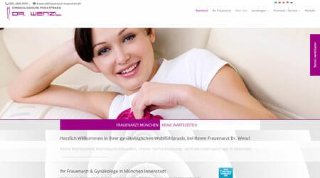 Arzt homepage Design