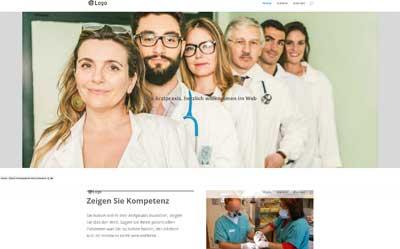 Vorlage, Beispiel Arzt-Website