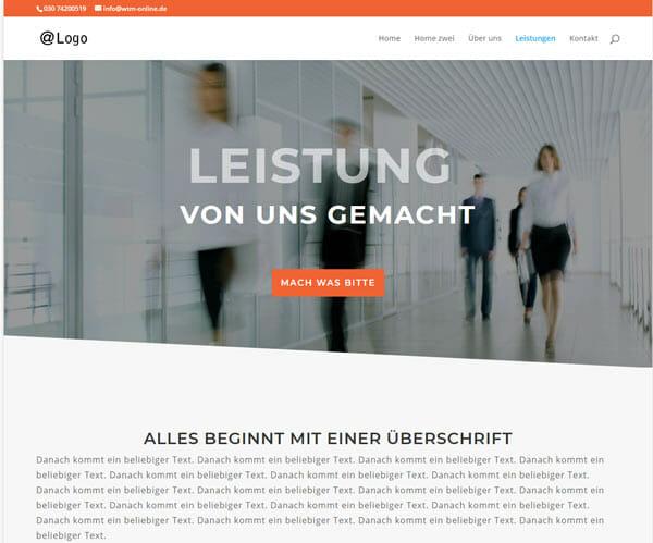 Homepage Vorlage Steuerberater
