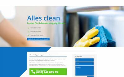 Homepage-Vorlage für Reinigungsfirmen