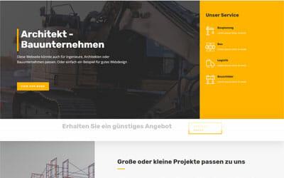 Homepage Vorlage Architekt Baufirma