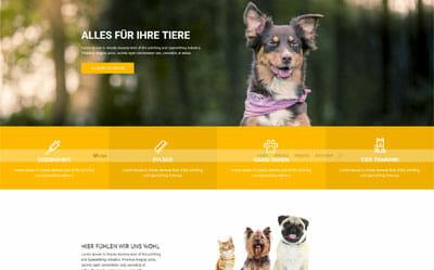 Homepage Vorlage Haustiere, Hundeschule, Tierpfleger