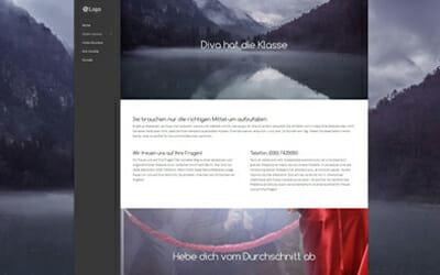 Beispiel Homepage Diva
