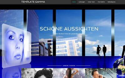 Homepage Vorlage große Bilder