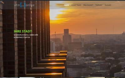 Homepage Vorlage Image, mit großen Bildern