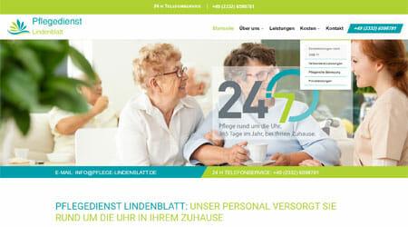 Homepage 24 Stunden Pflegedienst Lindenblatt