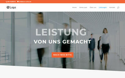 Vorlage Firmenwebsite